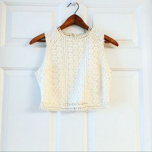 Abercrombie Boho Lace Crop Top
